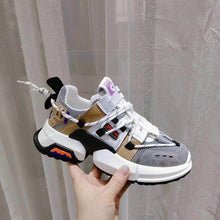 Load image into Gallery viewer, Women's Stylish Color Block Breathable Sneaker Shoes - Abershoes