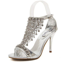Load image into Gallery viewer, Sexy Rhinestone High Heel Sandal Shoes - Abershoes