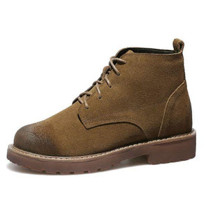 Trendy Leather Martin Booties - Abershoes