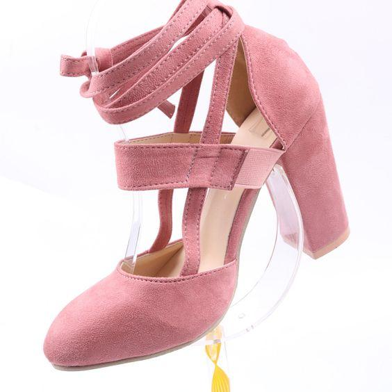 Trendy Pure Color High Heel Pumps - Abershoes