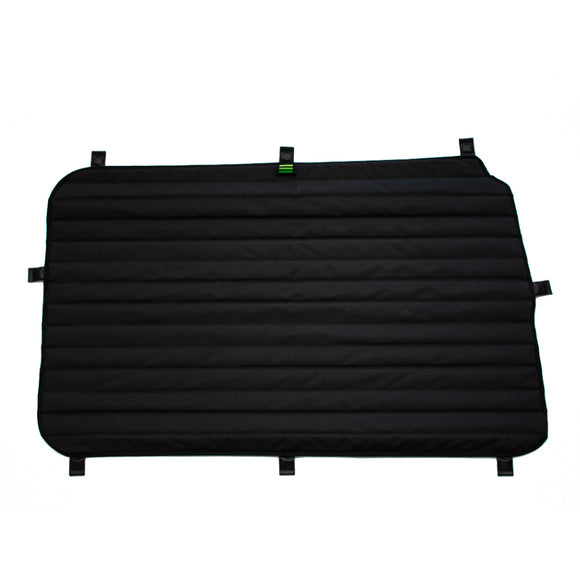 Transit Van Window Cover Set by TOURIG for Mid/High Roof Driver Side Galley Door - exterior side view