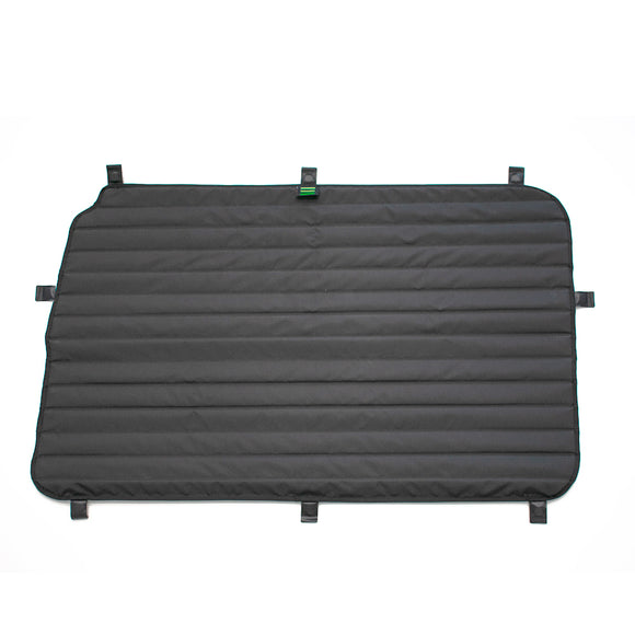 Transit Van Window Cover Set by TOURIG for Mid/High Roof Passenger Side Slider Door - exterior side view