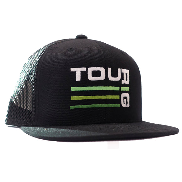 TouRig Logo Trucker Hat in black