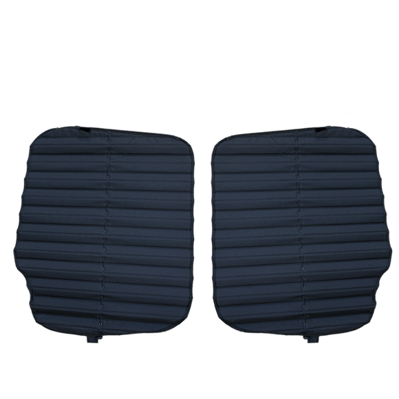 Bunker Blackout Rear Door Window Cover Set for Meredes-Benz Sprinter in black