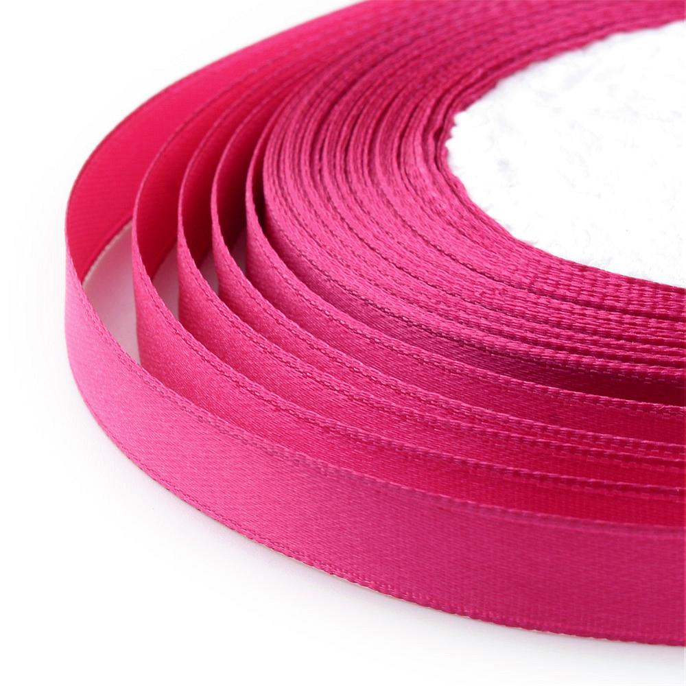 1 x Bright Pink Satin Ribbon 20 Metre x 7mm Spool