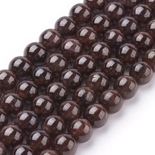 Load image into Gallery viewer, Strand of 60+ Natural Garnet Beads 6mm Round Beads