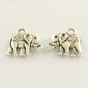 Pack of 20 Tibetan Style Antique Silver Elephant Charms 12 x 14mm