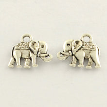 Load image into Gallery viewer, Pack of 20 Tibetan Style Antique Silver Elephant Charms 12 x 14mm