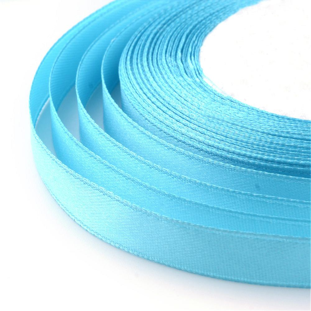 1 x Deep Sky Blue Satin Ribbon 20 Metre x 7mm