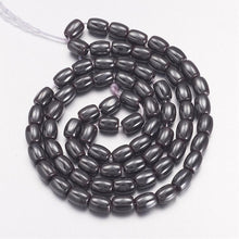 Load image into Gallery viewer, 4x6mm Rice Natural Hematite Beads 15 inches 38cm