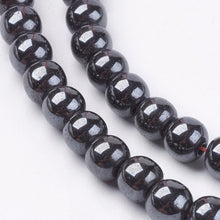 Load image into Gallery viewer, Strand Of 45+ Grey Hematite (Non Magnetic) 8mm Plain Round Beads