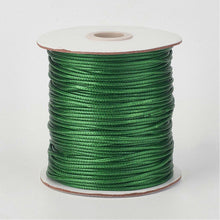 Load image into Gallery viewer, 1 x Dark Green Waxed Polyester 10 Metre x 1mm Thong Cord