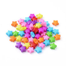 Load image into Gallery viewer, Packet 150+ Mixed Acrylic 12mm Puffy Star Beads