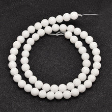 Load image into Gallery viewer, Strand of 45+ White Mashan Jade 8mm Plain Round Beads