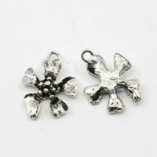 Load image into Gallery viewer, 30 Grams Antique Silver Tibetan Random Shapes & Sizes Charms (FLOWER)