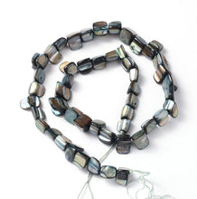 Load image into Gallery viewer, Strand of Shell Beads, Dyed Grey , 8 x 8mm