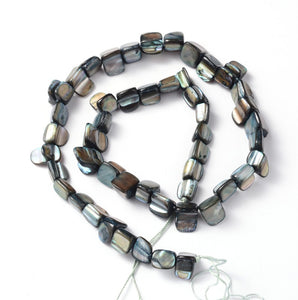 Strand of Shell Beads, Dyed Grey , 8 x 8mm
