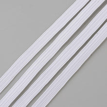 Load image into Gallery viewer, 1 x 5 mtr Flat Elastic Cord, White, 6mm