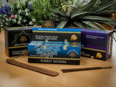 Pack of 12 Premium Golden Tree Nag Champa Incense Sticks