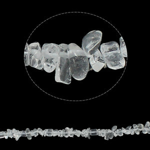 Long Strand Of 240+ Clear Quartz 5-8mm Chip Beads