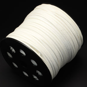 10 x White Faux Suede 1 Metre x 3mm Thong Cord