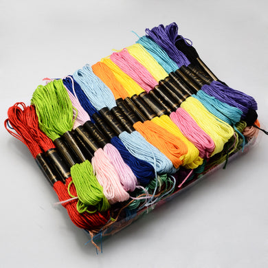 6 Pcs Mixed Colour 8m Embroidery Skeins 100% Cotton