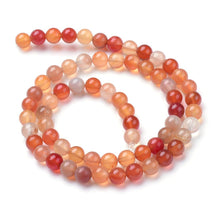 Load image into Gallery viewer, 60+ Natural Orange White Carnelian Loose Beads Round 6mm
