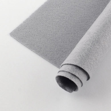 Polyester Felt Sheets Non Woven Grey 30x30cm Square Pack of 2