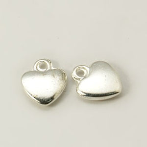 Pack of 20 Tibetan Style 12mm Silver Colour Heart Charms