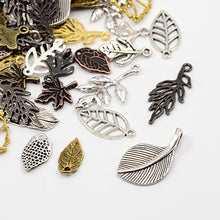 Load image into Gallery viewer, Pack Of 30 Grams Mixed Tibetan Random Shapes & Sizes Charms (LEAF)