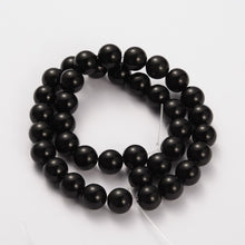 "Load image into Gallery viewer, 8mm Round Gemstone Black Obsidian Beads Strand 15"" Strand"