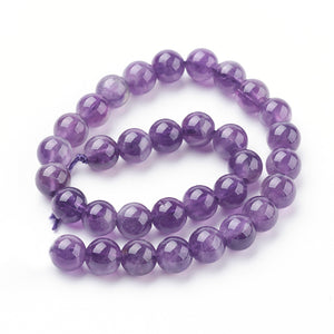 Natural Amethyst 6mm Loose Beads Round