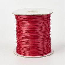 Load image into Gallery viewer, 1 x Firebrick Red Waxed Polyester 10 Metre x 1mm Thong Cord