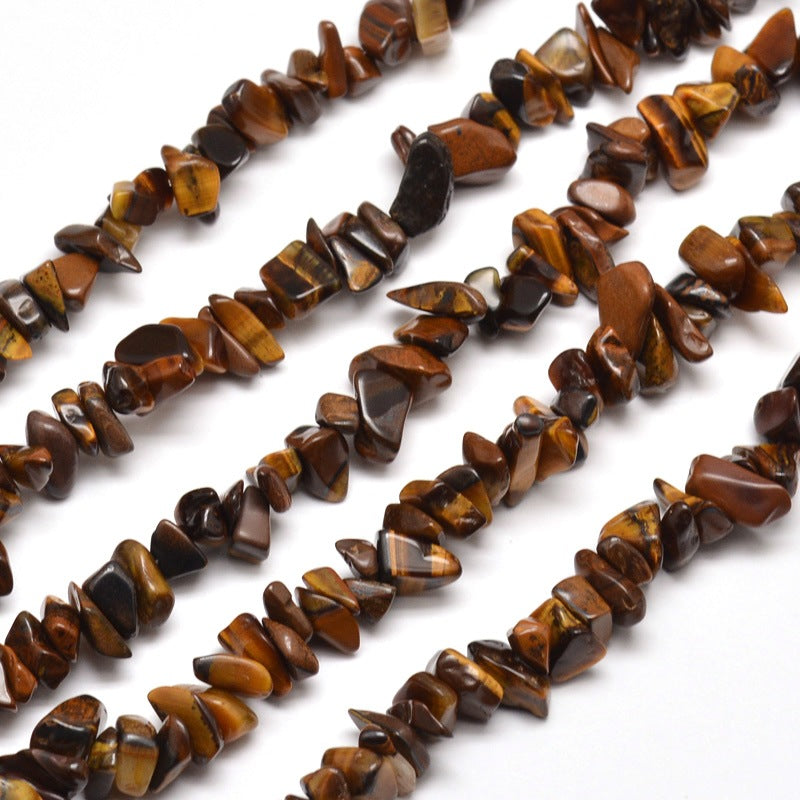 Long Strand Of 240+ Tiger Eye 5-8mm Chip Beads
