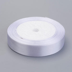 1 x White Satin Ribbon 20 Metre x 16mm