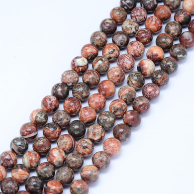 Natural Leopardskin 6mm Loose Beads Round