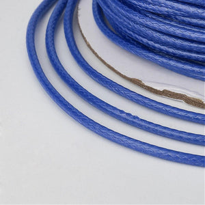 1 x Blue Waxed Polyester 10 Metre x 1mm Thong Cord