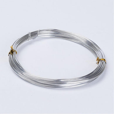 1 x Silver Aluminium Craft Wire 10 Metre x 1mm Coil