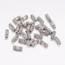 Load image into Gallery viewer, Pack of 30 Tibetan Style 8mm Antique Silver Column Spacer Beads