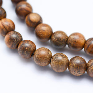 Strand of Natural Sandalwood Beads 6mm
