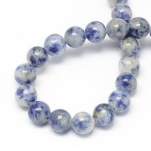 Load image into Gallery viewer, Strand Of 64+ Blue Spot Jasper 6mm Plain Round Beads