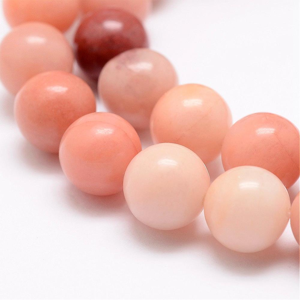 Strand of 60+ Natural Pink Aventurine Beads, 6mm