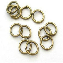 Load image into Gallery viewer, Packet of 400+ Antique Bronze Plated Iron 0.7 x 6mm Jump Rings
