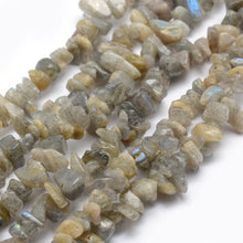 Load image into Gallery viewer, Long Strand Of 240+ Grey Labradorite 5-8mm Chip Beads