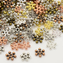 Load image into Gallery viewer, Pack of 40 Mixed Tibetan Style Snowflake Spacer Beads - 8.5mm