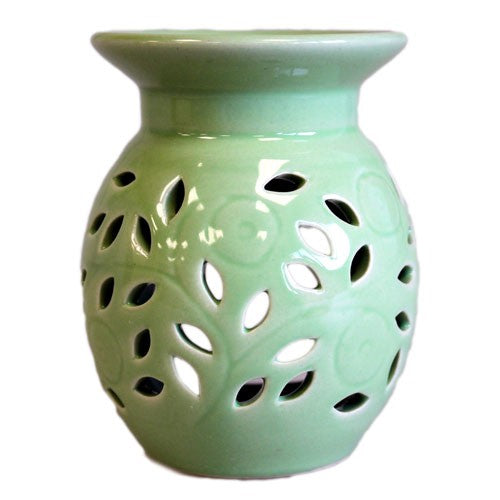 Floral Oil Burner Choice Of Colours
