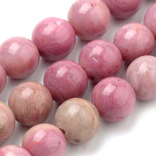 Load image into Gallery viewer, Strand of Natural 8mm Rhodochrosite Beads