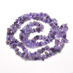 "Amethyst Agate Gemstone Chip Beads - 33"" Strand"