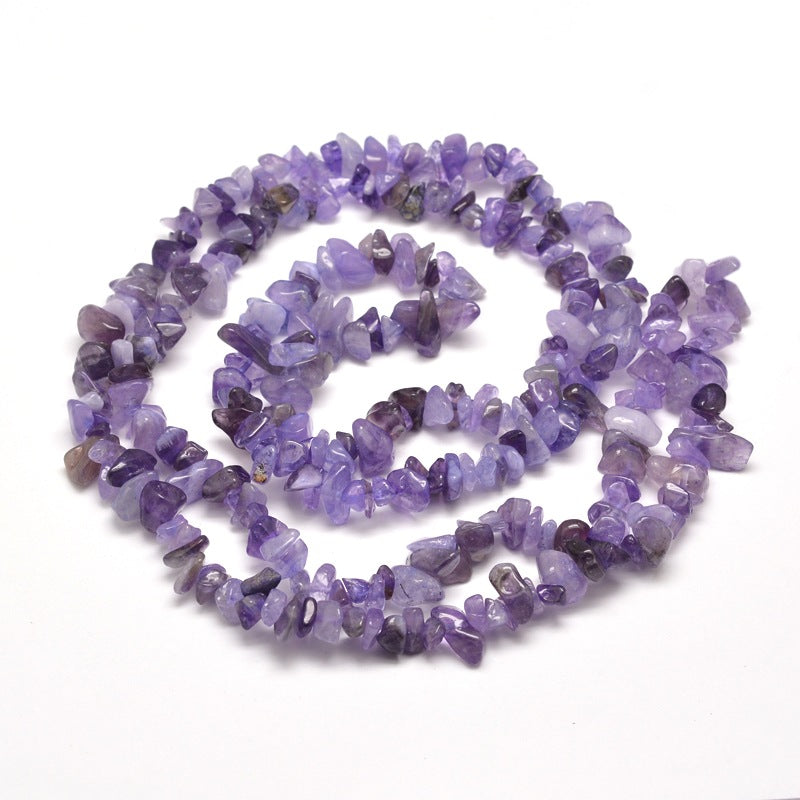 Amethyst Agate Gemstone Chip Beads - 33