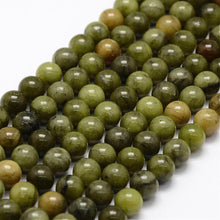 Load image into Gallery viewer, Natural Chinese Jade 6mm Loose Beads Round